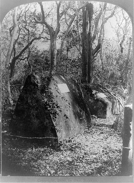 Florida-- the mysterious graves in the forest--Ft. George Id. / Geo. Barker, photographer, Niagara Falls, N.Y.
