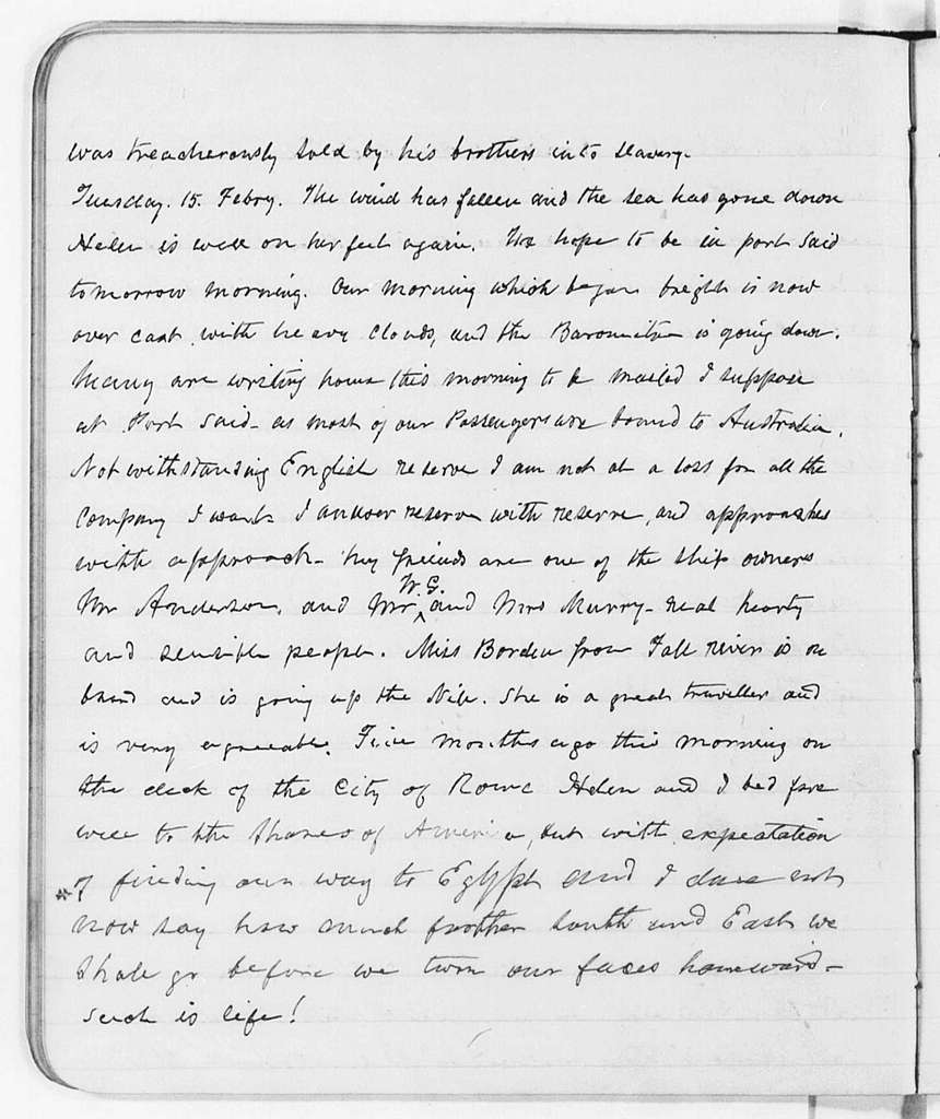 Frederick Douglass Diary (Tour of Europe and Africa)