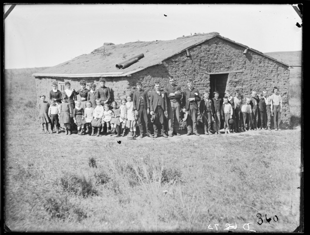 Gates School in Cumming Park, north west of West Union, Custer County, Nebraska.