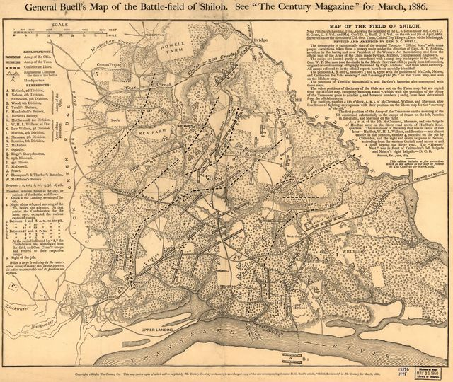 General Buell's map of the battle-field of Shiloh. [April 6-7, 1862]