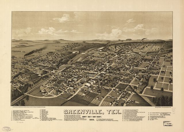 Greenville, Tex., county seat of Hunt County 1886.