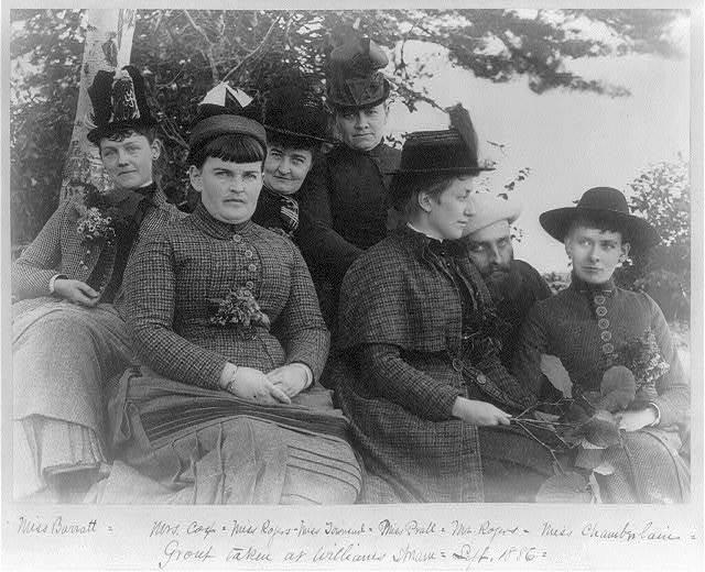 [Group portrait of ladies taken at Williams, Maine]