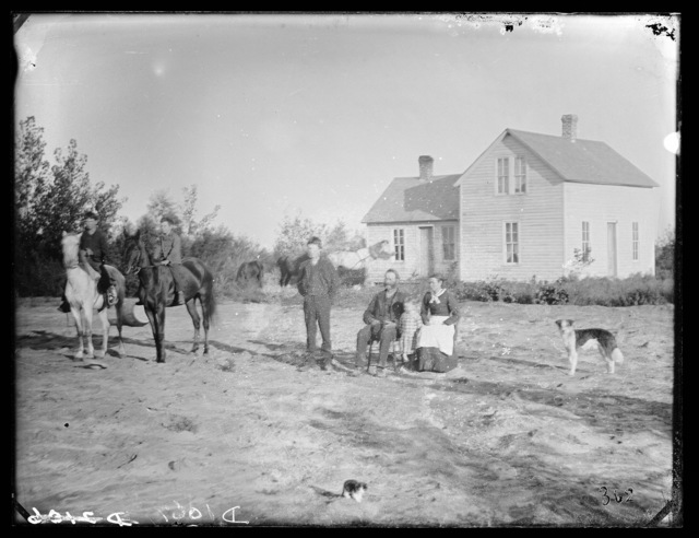 H. Bathrick Family on Victoria Creek near New Helena, Nebraska.