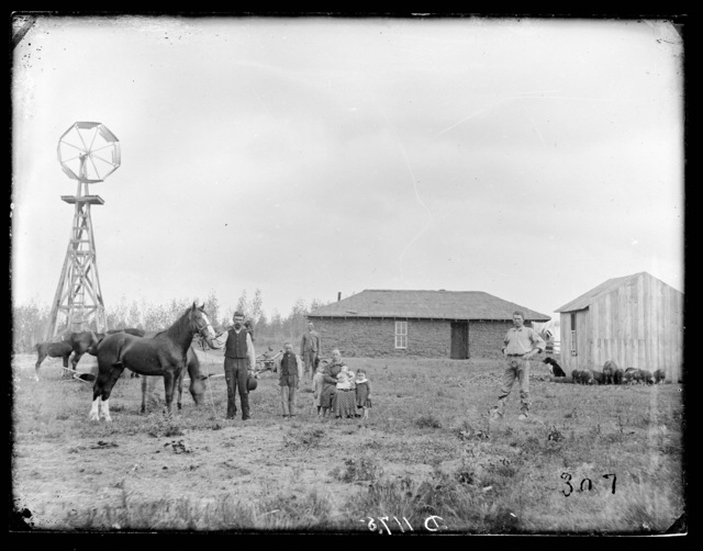 """Hard Life on the Homestead."" Custer County, Nebraska."