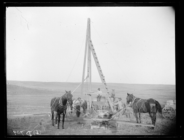 Hart and Co. drilling a well on Cliff Table in Custer County, Nebraska