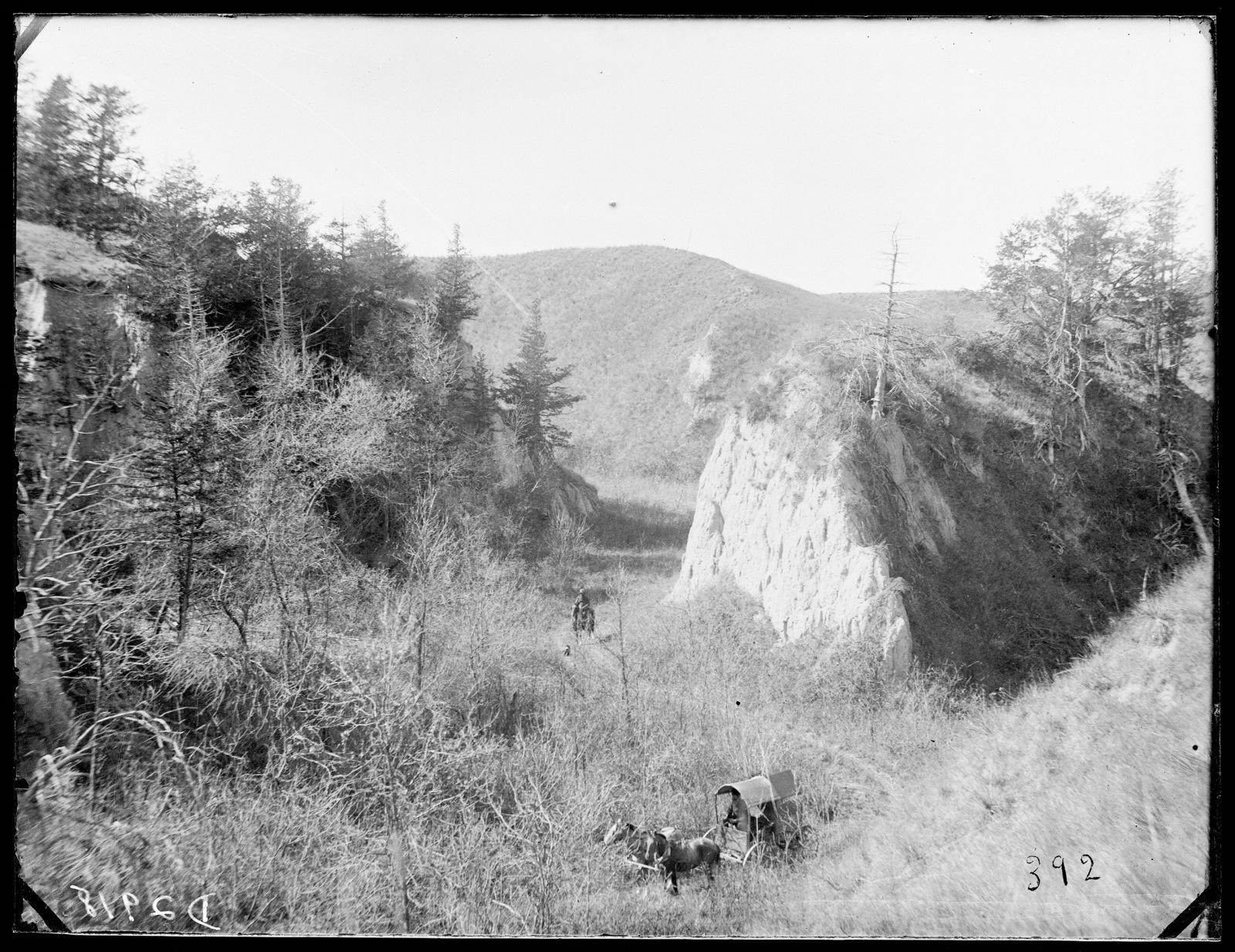 Harvey Andrews in Cedar Canyon on Victoria Creek, near New Helena, Nebraska.