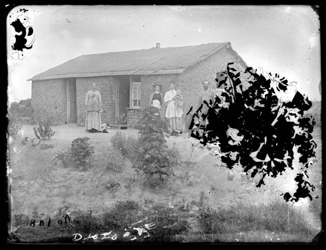 Holme sod house east Custer County.