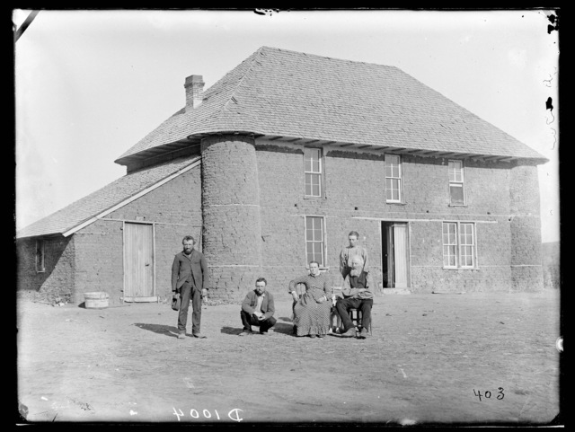 Isadore Haumont two-story sod house on French Table north of Broken Bow, Custer County, Nebraska