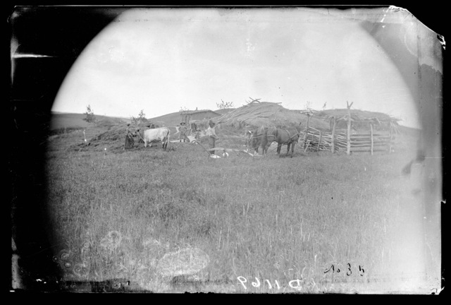 James Milburn and family, Milburn, Custer County, Nebraska.