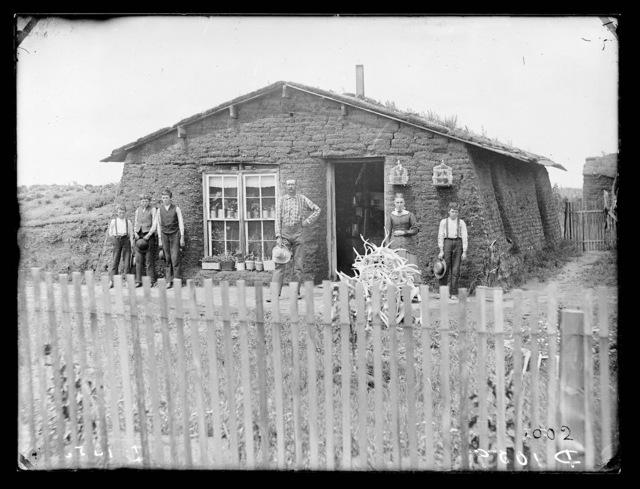J.C. Cram sod house, Loup County, Nebraska.