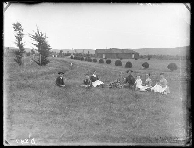 J.D. Ream's early day soddy northwest of Broken Bow, Custer County, Nebraska.