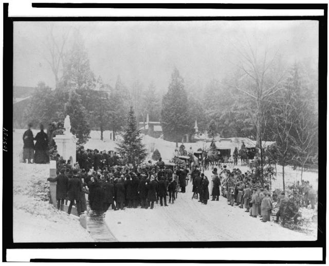 [John Alexander Logan's funeral at Hutchinson's vault, Washington, D.C.] / photographed and published by C.M. Bell, Washington, D.C.