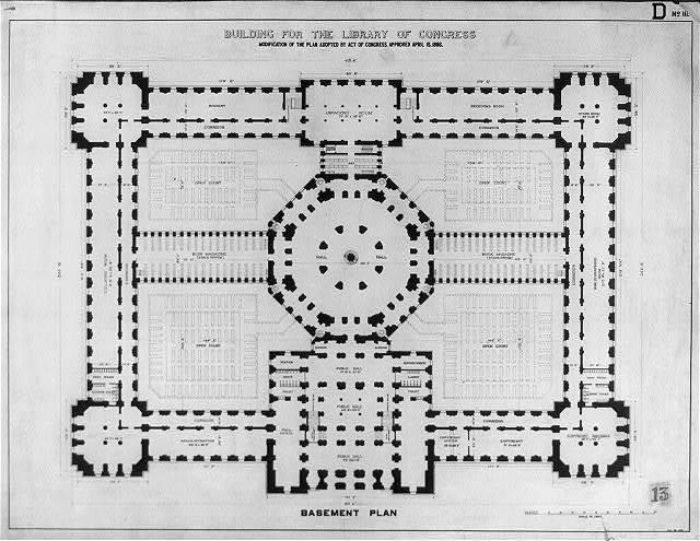 [Library of Congress, Washington, D.C. Basement plan, D series]