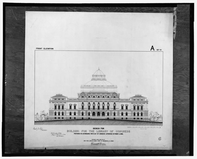 [Library of Congress, Washington, D.C. Front elevation, A series]