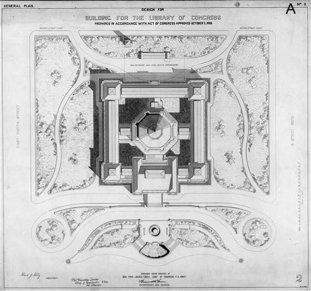[Library of Congress, Washington, D.C. General plan, A series]