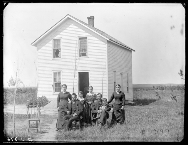 Major Ellison, founder of old Algernon, Custer County, Nebraska.