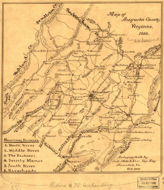 Map of Augusta County, Virginia, 1886