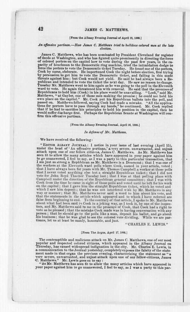 Mathews, James C., 1887