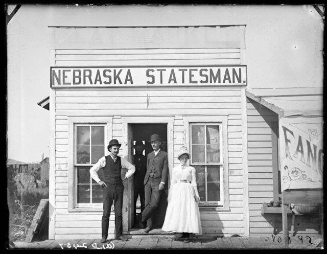 """Nebraska Statesman"" newspaper office in Broken Bow, Nebraska"