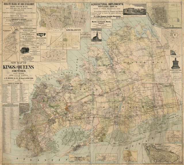 New map of Kings and Queens counties, New York : from actual surveys.