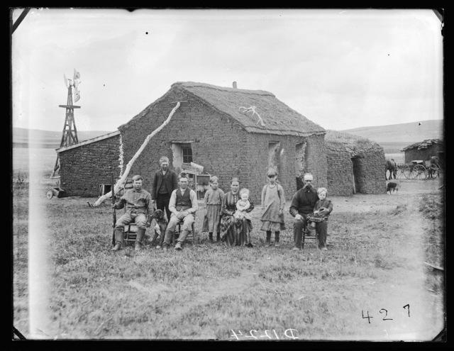 Ole Johnson and Family, Round Valley, Custer County, Nebraska.