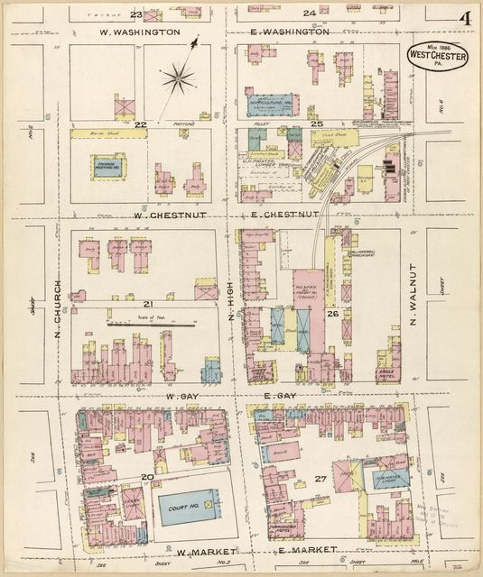Sanborn Fire Insurance Map from West Chester, Chester County, Pennsylvania.