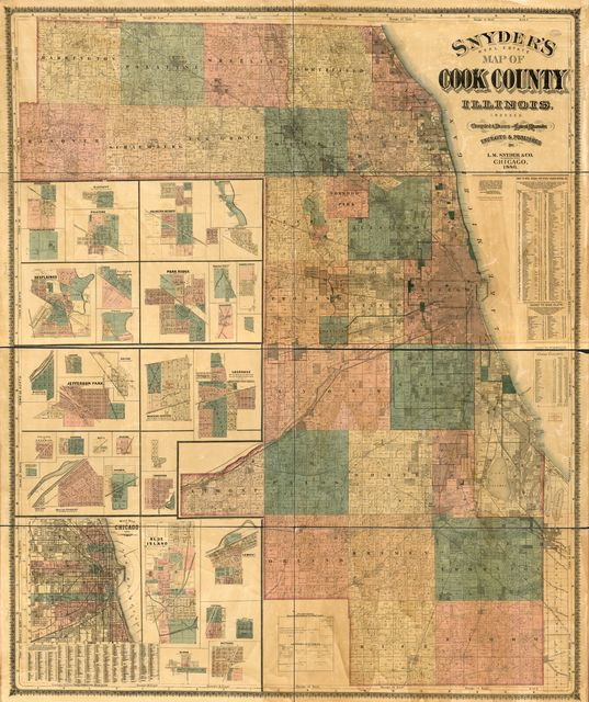 Snyder's real estate map of Cook County, Illinois : indexed /
