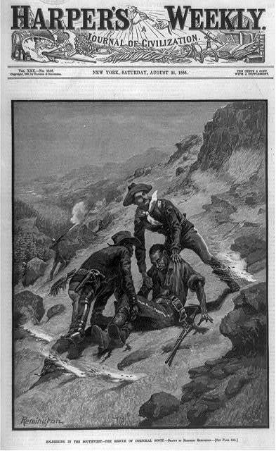 Soldiering in the Southwest--the rescue of Corporal Scott / Remington.