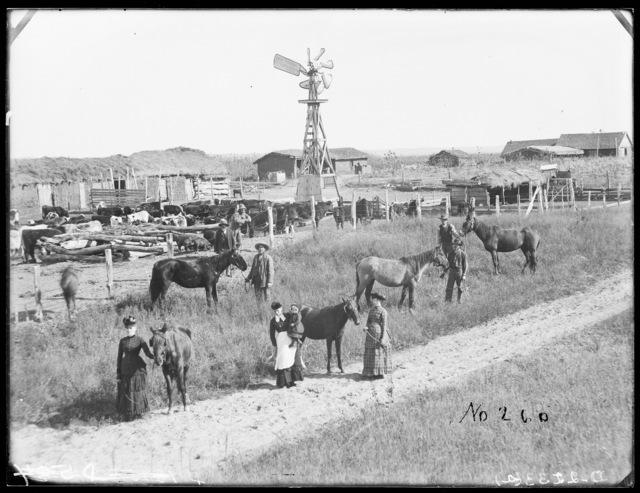 Stillman Gates home and family, Gates, Custer County, Nebraska,.