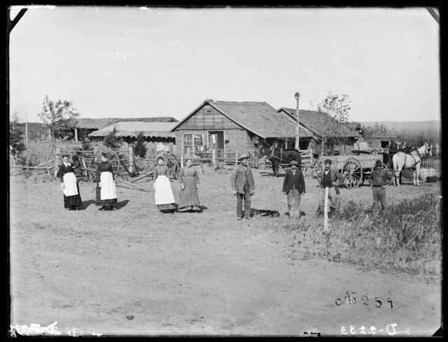 Stillman Gates in front of his store and postoffice at Gates, Custer County, Nebraska,.