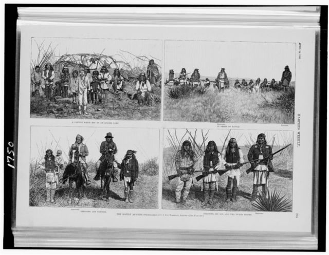 The Hostile Apaches / photographed by C.S. Fly, Tombstone, Arizona.