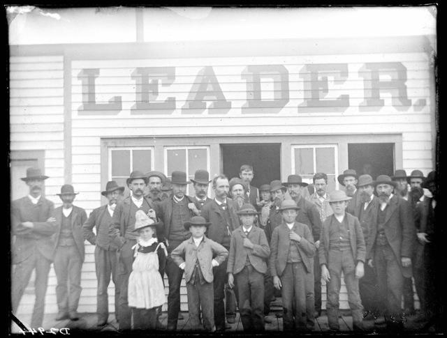 "The ""Leader"" printing office at Broken Bow, Custer County, Nebraska."