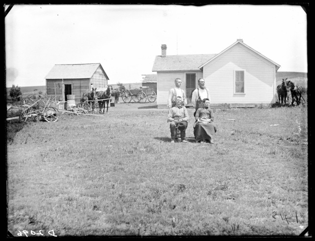 Troby homestead in Happy Hollow, southeast of Ansley, Custer County, Nebraska