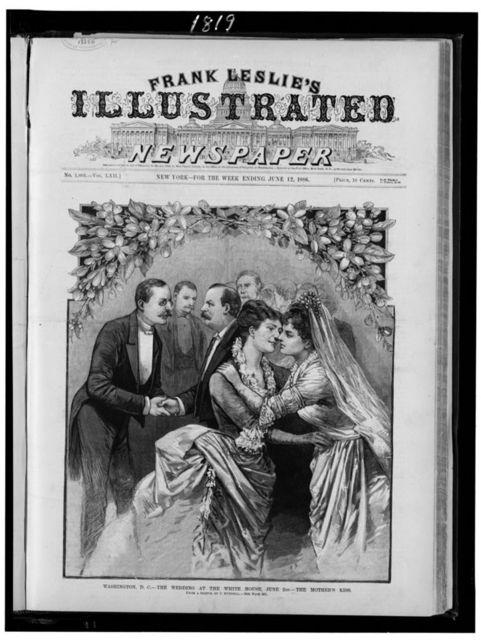 Washington, D.C.--The wedding at the White House, June 2nd--the mother's kiss / from a sketch by C. Bunnell.
