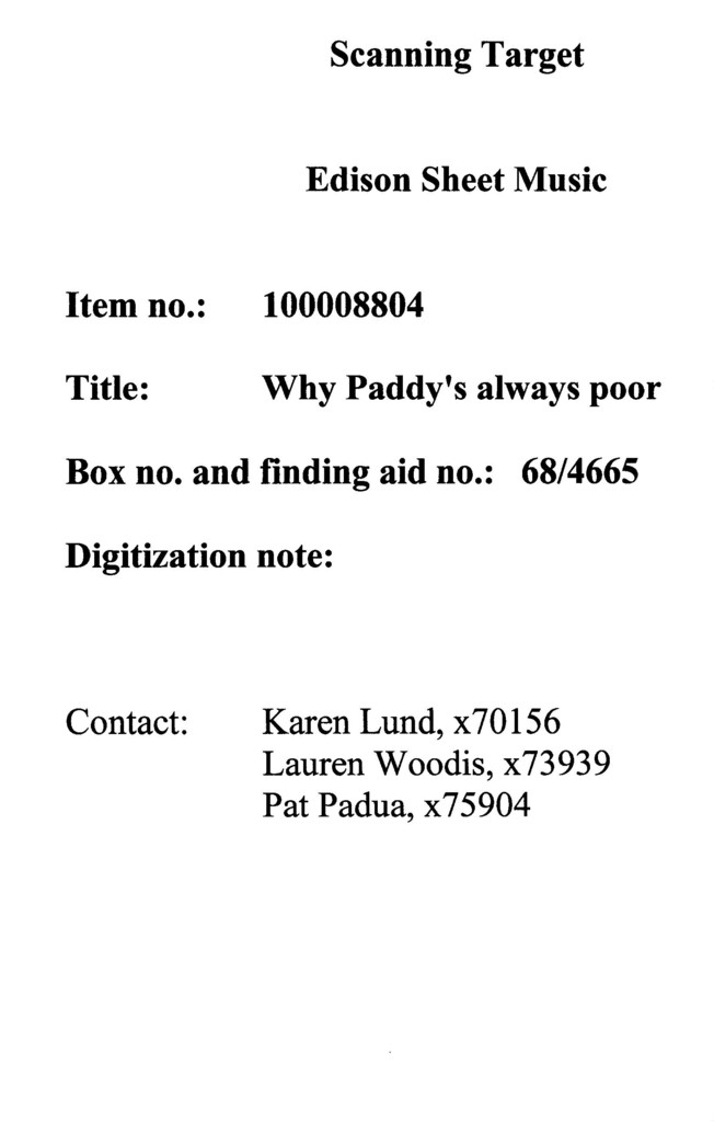 Why Paddy's always poor