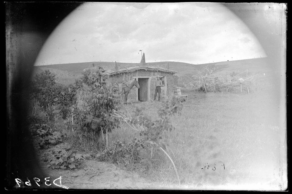 William Marsh at his homestead near the Genet postoffice in Custer County, Nebraska