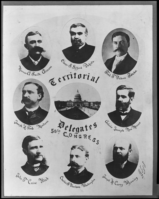 50th Congress U.S. Territorial delegates / Brady & Handy Photo Wash D.C.