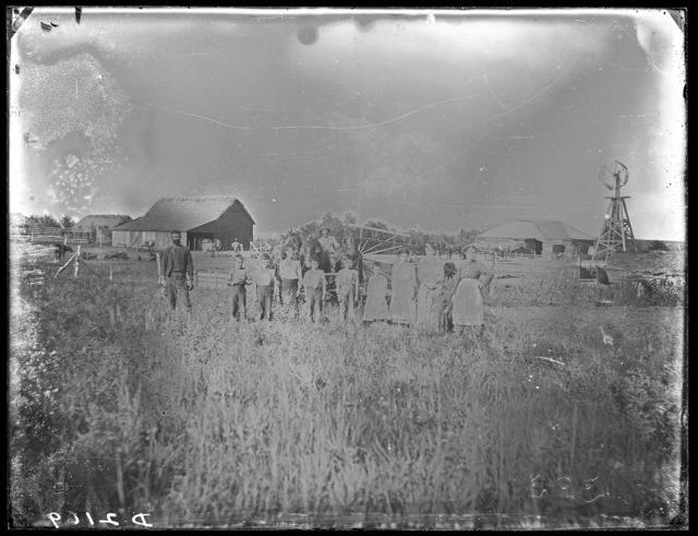 A Family Farm scene in Custer County, Nebraska.