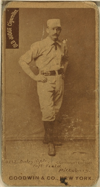 [Abner Dalrymple, Pittsburgh Alleghenys, baseball card portrait]