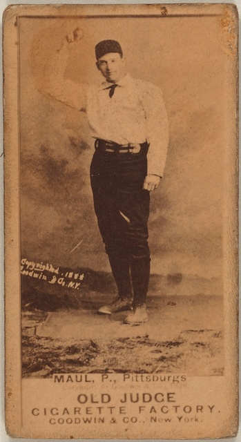 [Al Maul, Pittsburgh Alleghenys, baseball card portrait]