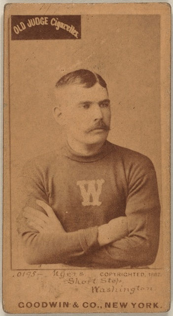 [Al Myers, Washington Statesmen, baseball card portrait]