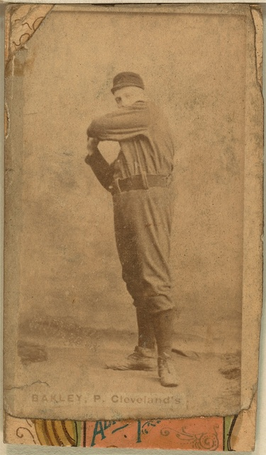 [Bakely, Cleveland Blues, Spiders, and Infants, baseball card portrait]