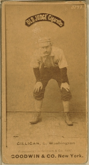 [Barney Gilligan, Washington Statesmen, baseball card portrait]