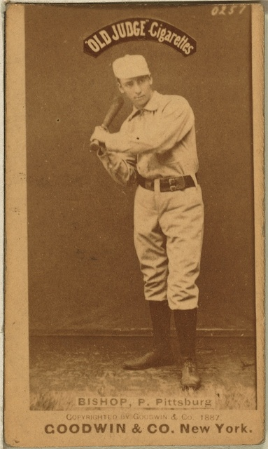 [Bill Bishop, Pittsburgh Alleghenys, baseball card portrait]