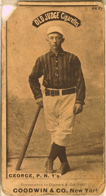 [Bill George, New York Giants, baseball card portrait]