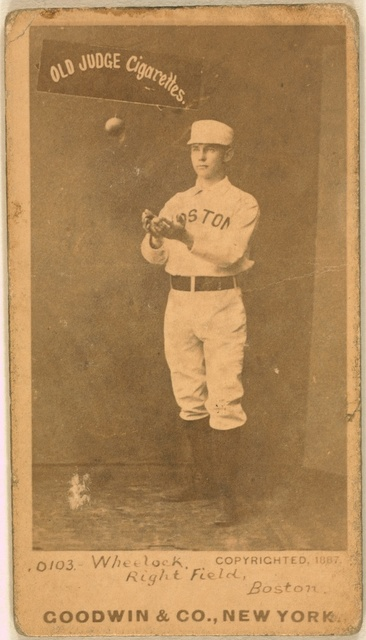 [Bobby Wheelock, Boston Beaneaters, baseball card portrait]