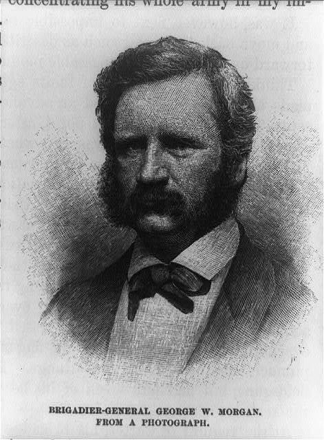[Brigadier-General George W. Morgan, head-and-shoulders portrait, facing left] / H.V.