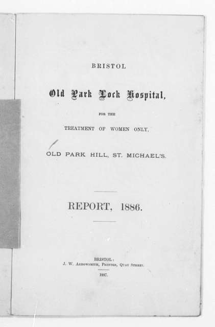 Briston Old Park Lock Hospital Report