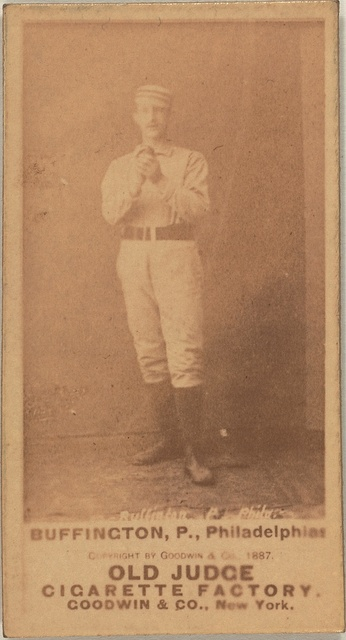 [Buffinton, Philadelphia Quakers, baseball card portrait]