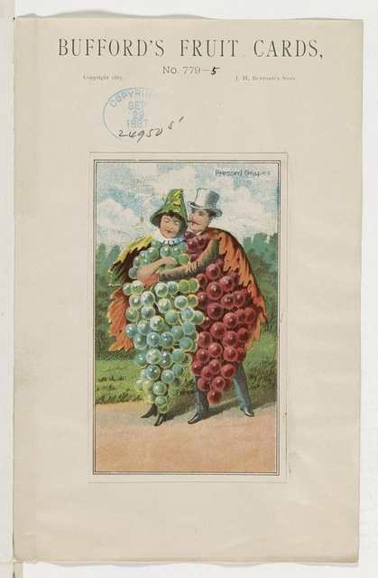 Bufford's fruit cards, no. 779-5 [grapes] / Bufford.